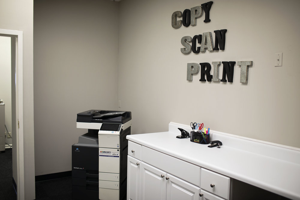 Copy, Scan, Print & Fax - We acknowledge the fact the much of business still takes place on paper. Our office equipment will get those jobs done.