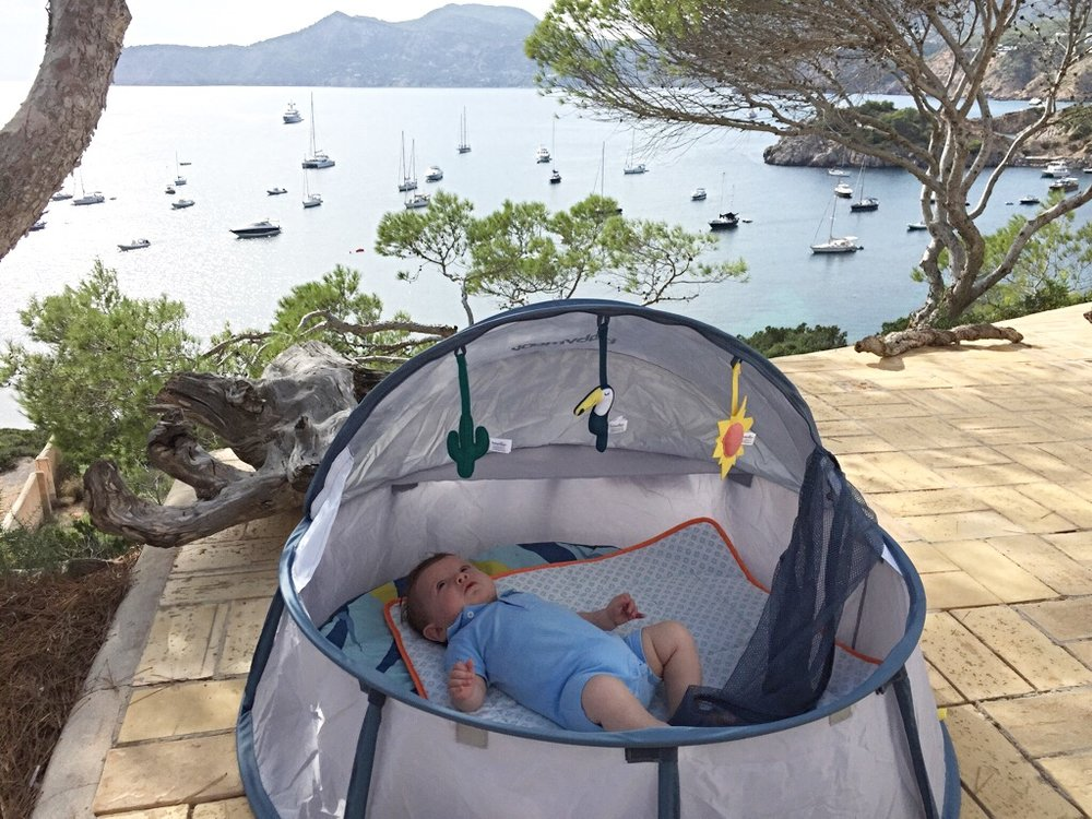 Rupert LOVED his babymoov tent, which we hired from airtots