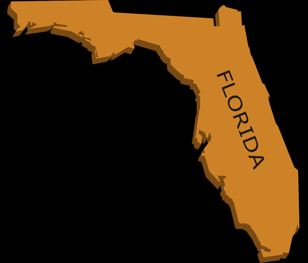 How Florida looked from space, when it was still made of orange paper.