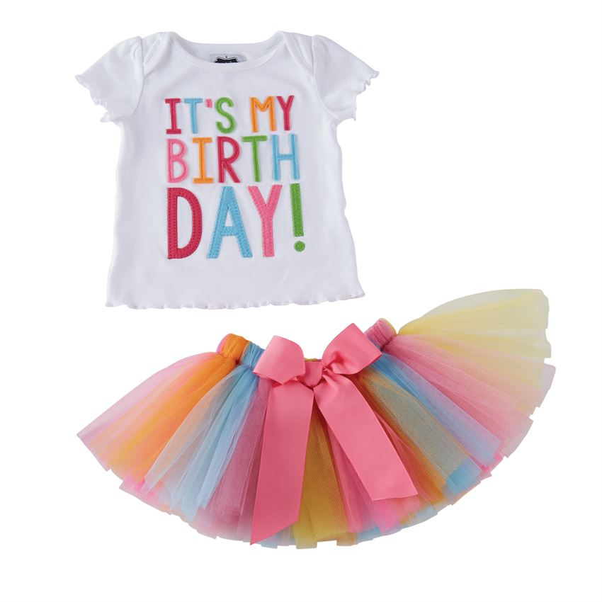 ea8b700ba Mud Pie It's My Birthday Tutu Set