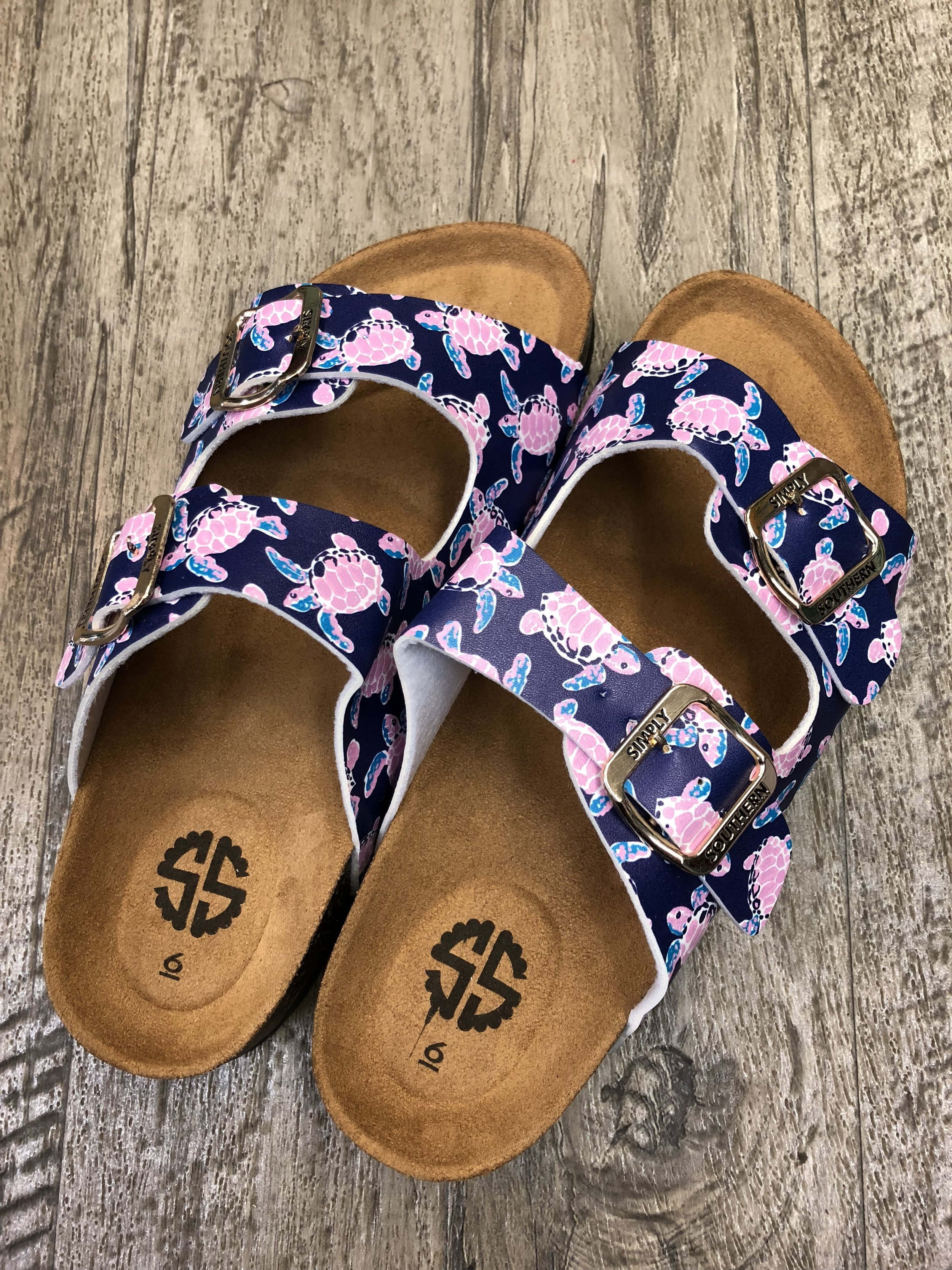 1008168a8998 Simply Southern Sandals - Sea Turtle — Turquoise Turtle