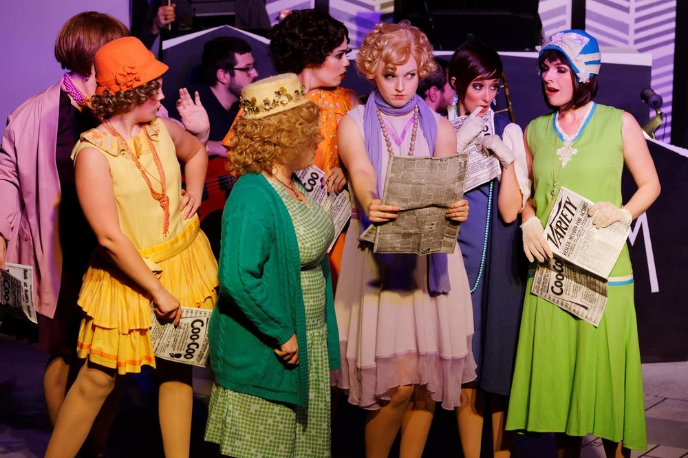 Lucy Shea (in purple) as Cora in Thoroughly Modern Millie