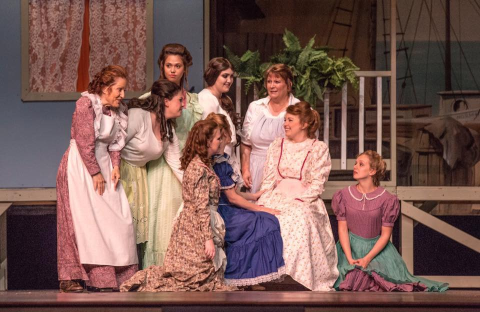 Lucy Shea (in white) as Carrie in Carousel