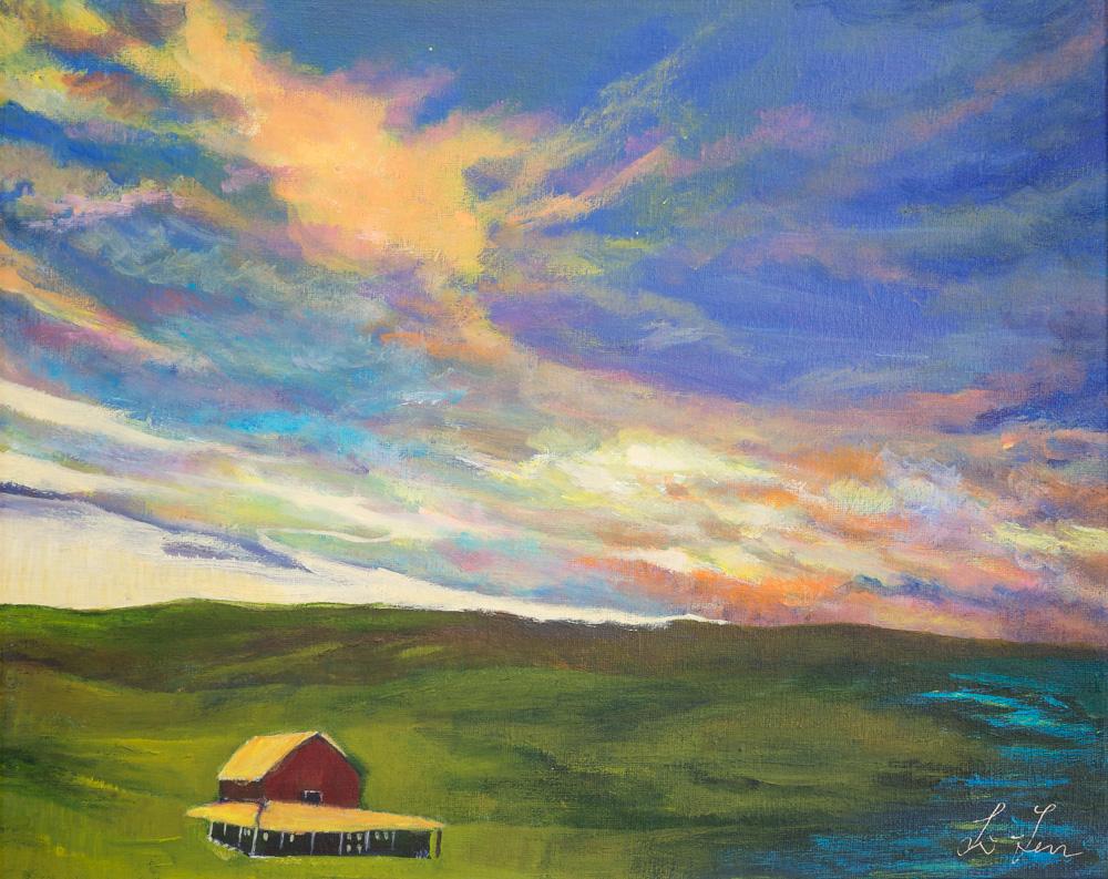 "Serenity Acrylic 16""x20"" Canvas $300"