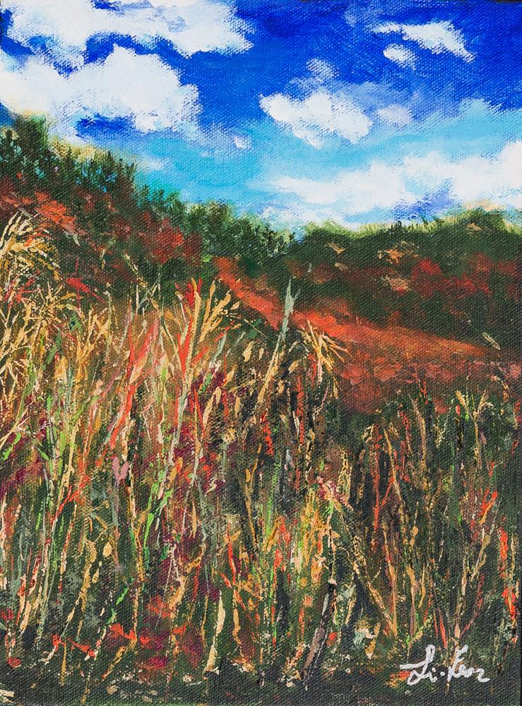Jewel Pass Hike Acrylic 9x12 Canvas $140