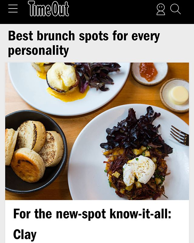 Don't wait till the weekend to make brunch plans, book on @Resy now! Time Out NY named Clay one of the best spots for brunch in NYC!