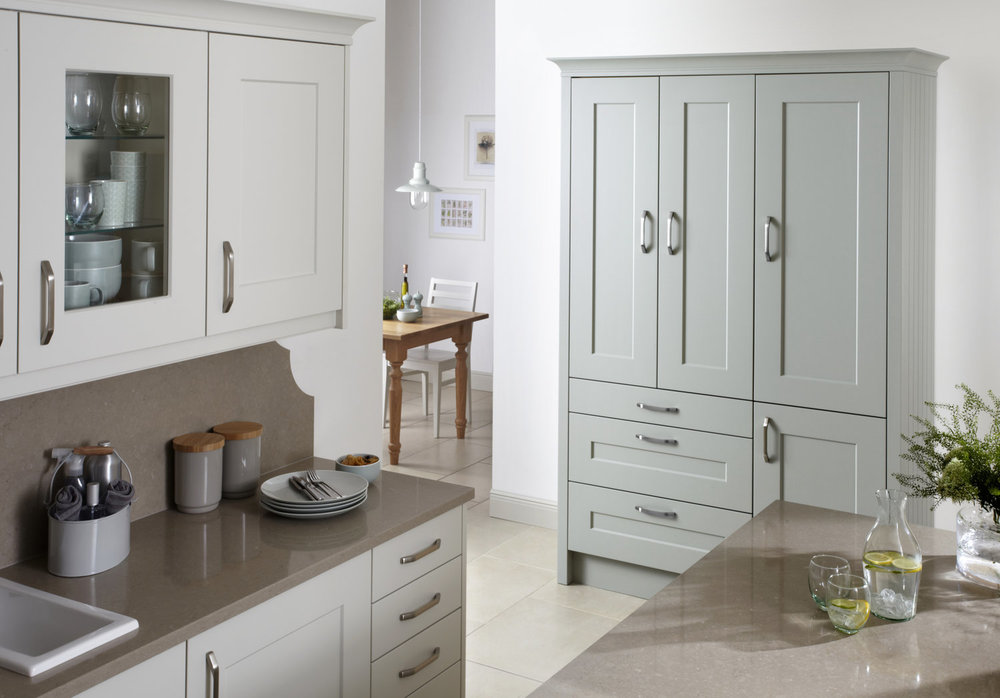 a shaker doorstyle looks equally at home in a contemporary or traditional kitchen setting.