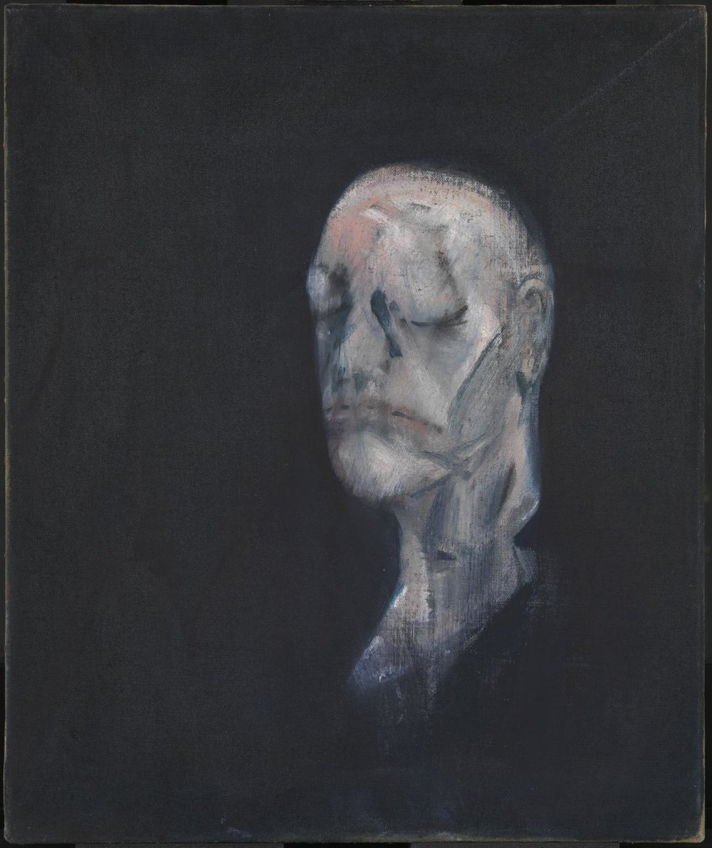 Study for Portrait II (after the Life Mask of William Blake)   Francis Bacon, 1955. Image taken from  www.tate.org.uk .