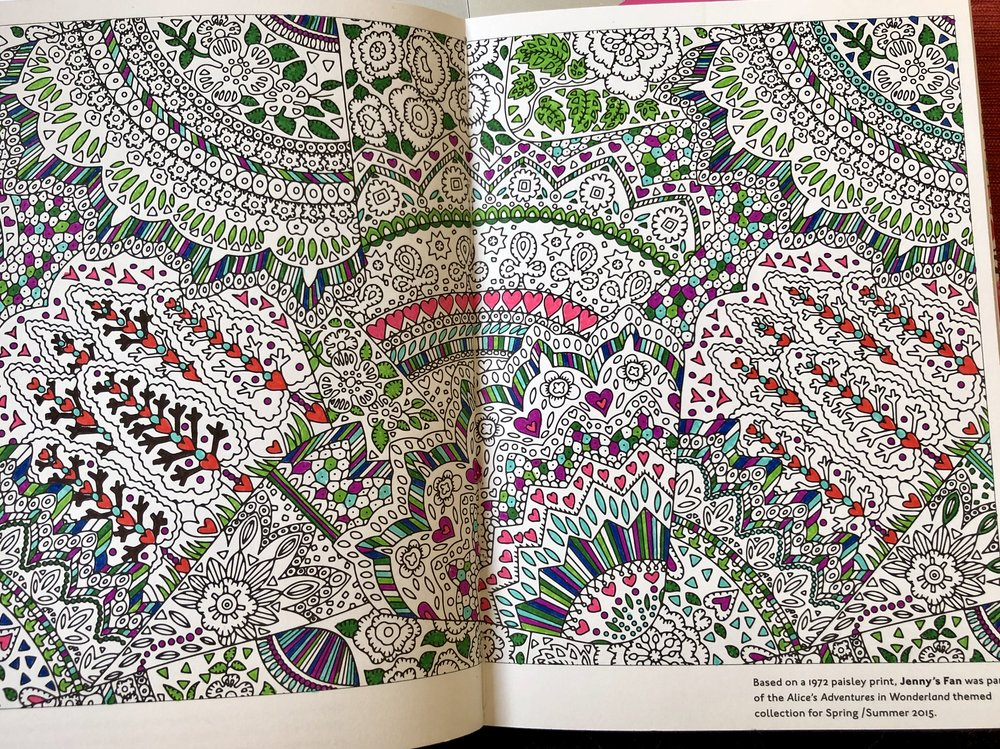 from the Liberty Fabrics coloring book