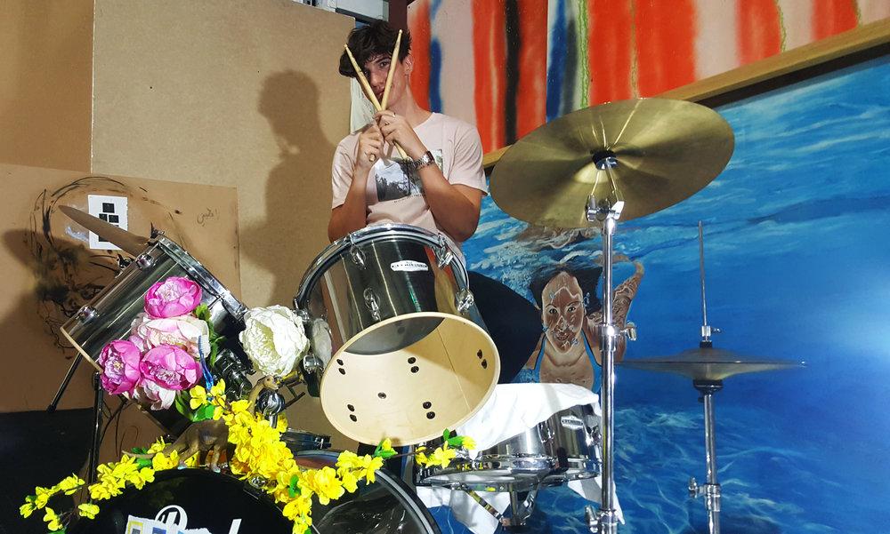 kyle - drums: taken by emma (myself)