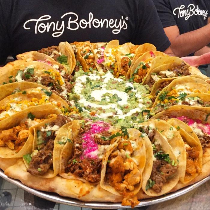 Taco Pizza at Tony Boloney's