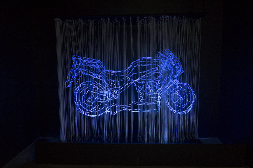 Yamaha GP 2010, Mixed media installation  66 x 82 1/4 x 23 3/16 in.