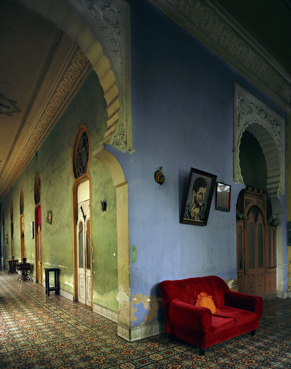 Red Couch, Havana 2010, Digital C-print 90 3/8 x 73 in.