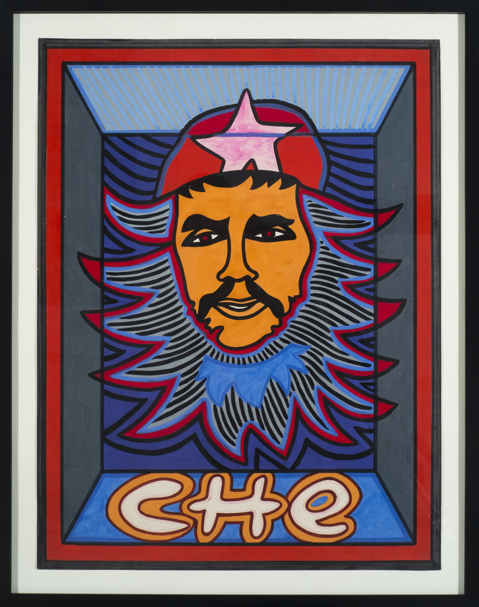 Che  1985, Gouache on paper  25 1/2 x 19 1/2 in.