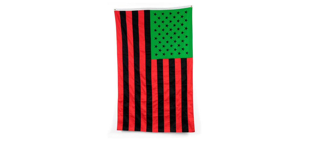 African American Flag  1990, Sewn fabric  48 x 96 inches