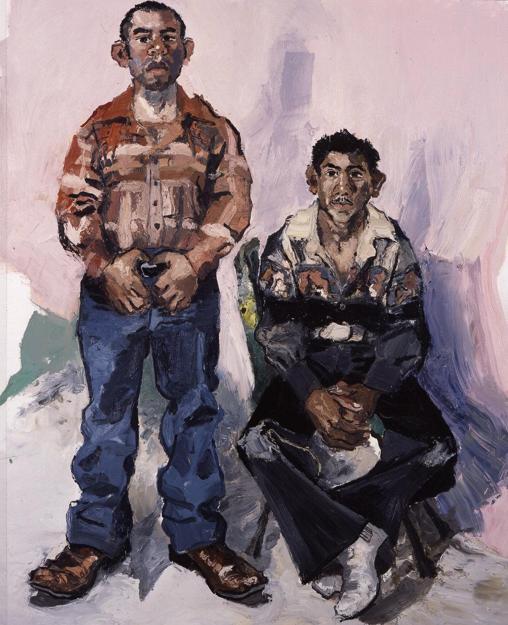 Gabriel and Fernando  2004, Oil on canvas  72 x 60 inches
