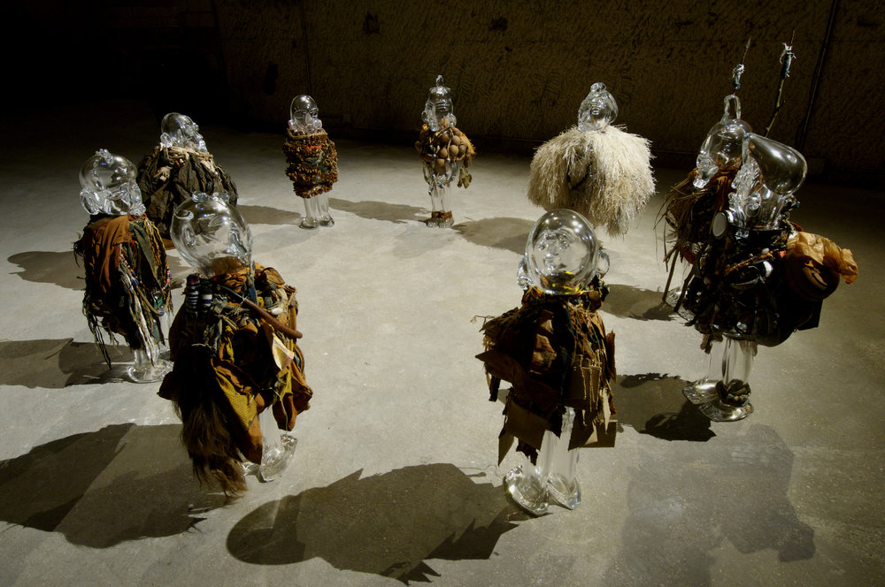 Le M'KAM VU, La societe secrete ou le conseil des 9,  2001, Nine African Crystal Sculptures  Variable dimensions