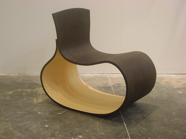 Vientre  2007, Bent black and white oak with natural finish  27 1/2 x 31 1/2 x 20 1/8 in.