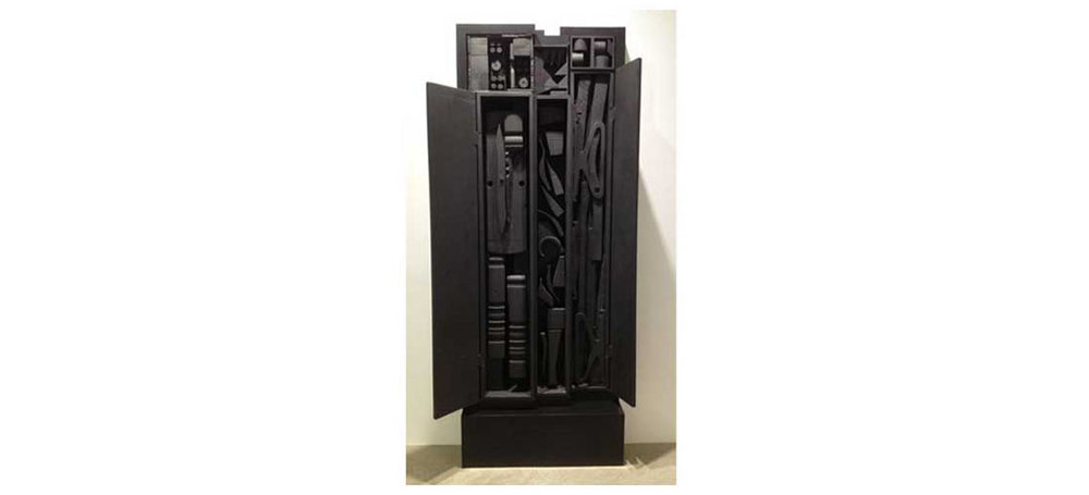 Night Personage Presence 1968, Painted wood construction 95 x 36 x 9 in.