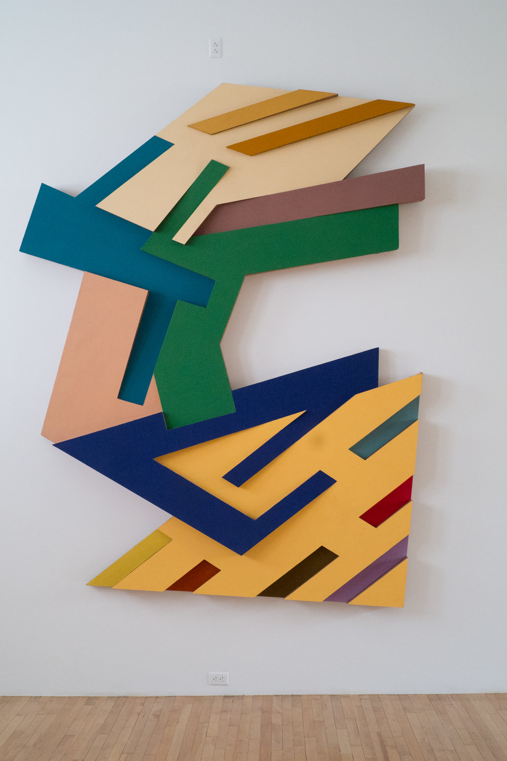 Targowica III  1973, Felt and acrylic paint on Tri-Wall cardboard  122 x 96 x 8 in.