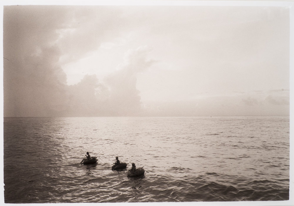 Cuban Fishermen (from the Cuba series) 1997, Toned silver gelatin print 12 1/4 x 18 in.