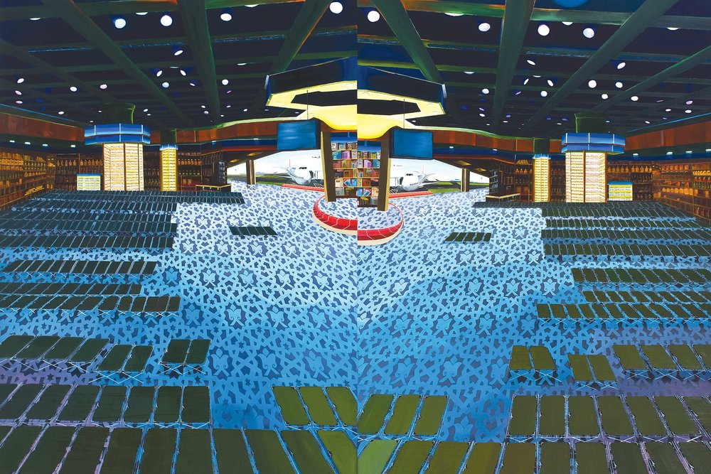 Above: Kanishka Raja, Double Duty, 2007, oil on canvas