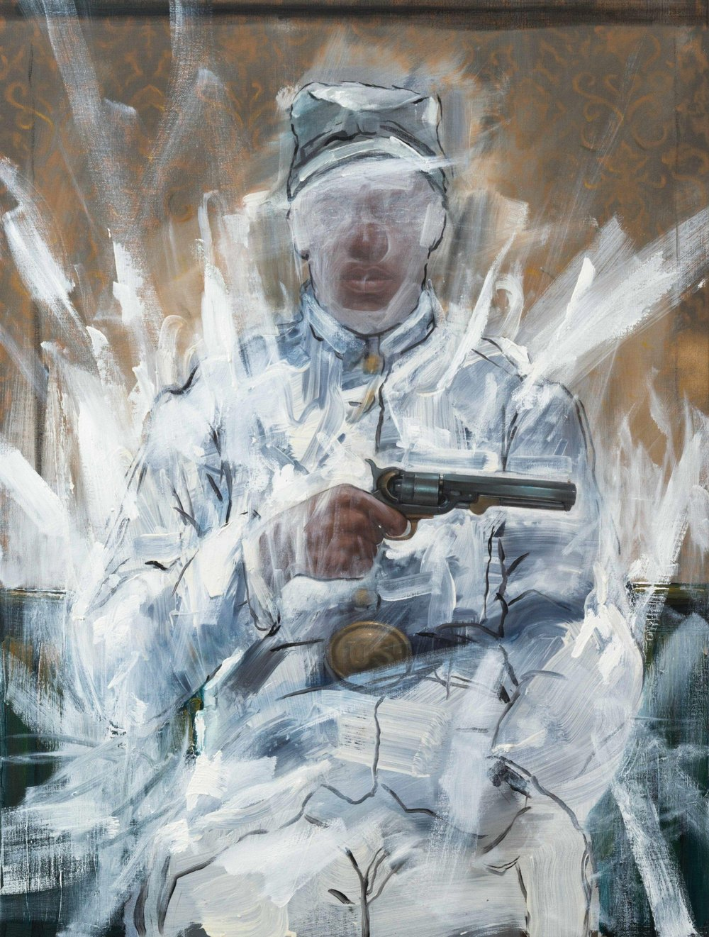 Titus Kaphar,  Time Travel , 2013, oil on canvas
