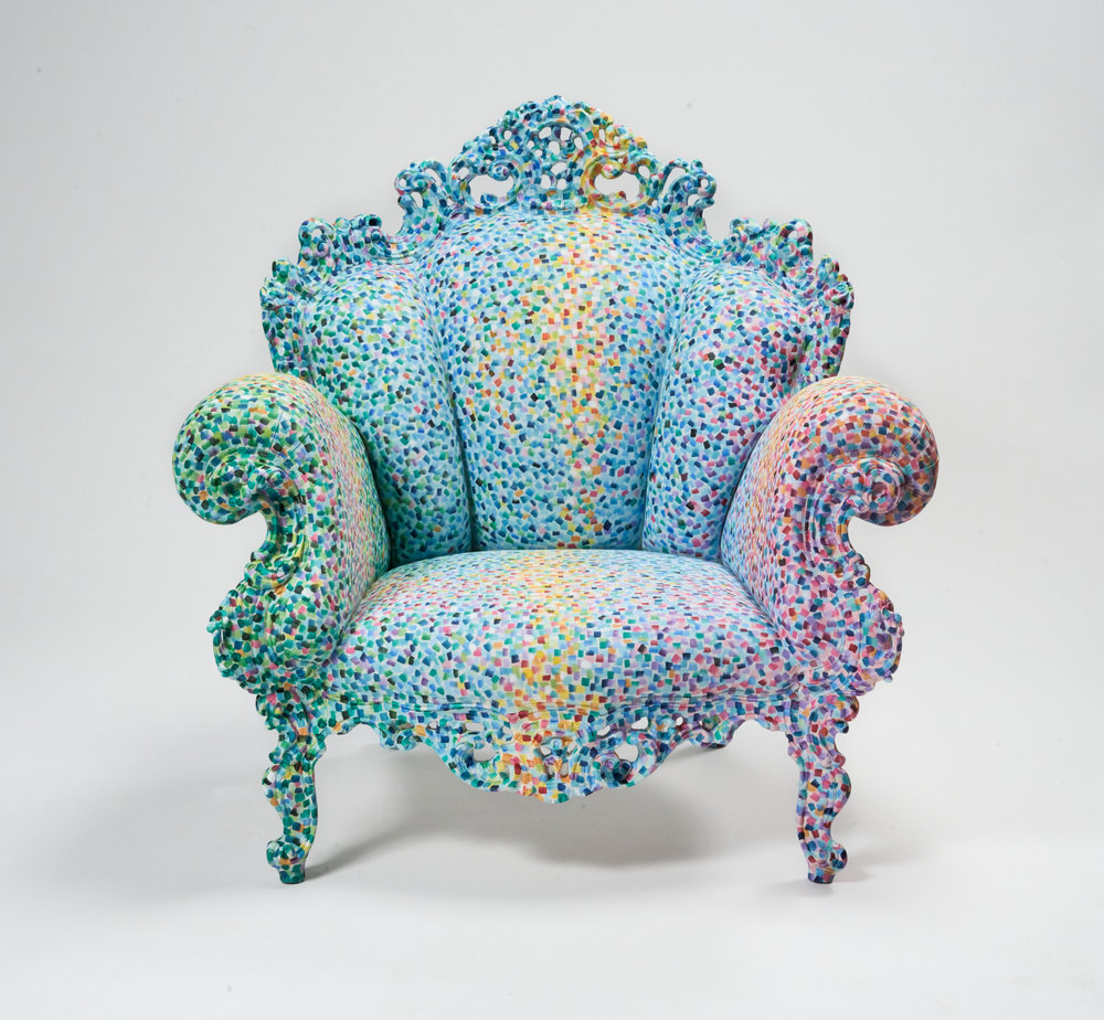 Alessandro Mendini,   Proust Chair,  1978-2015. Courtesy of the artist. Photography by Alan Geho/Ralphoto.