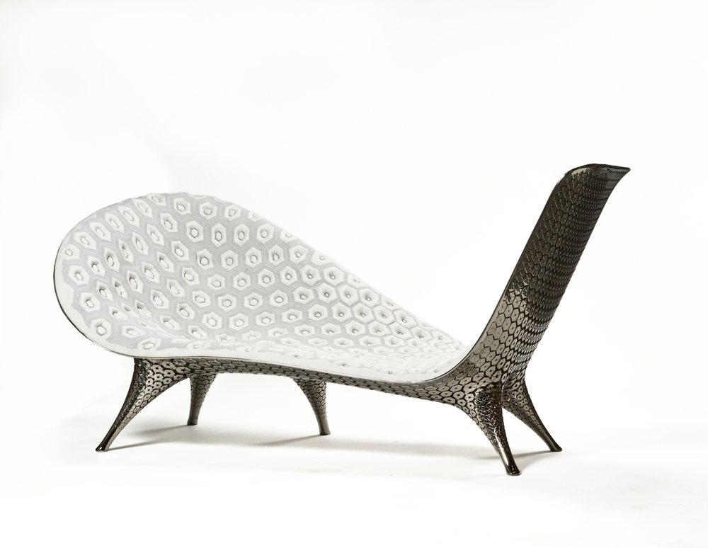 Joris Laarman ,  Microstructures Chaise , 2015. Photography by Alan Geho/Ralphoto.