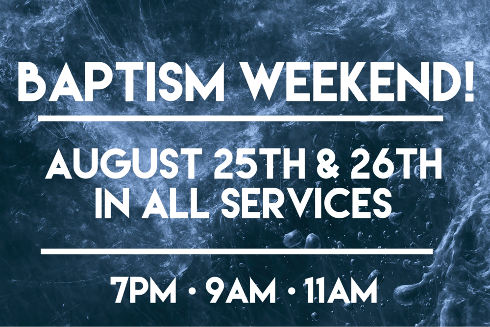 Join us for our MyTribe party celebrating baptism weekend at 1pm.