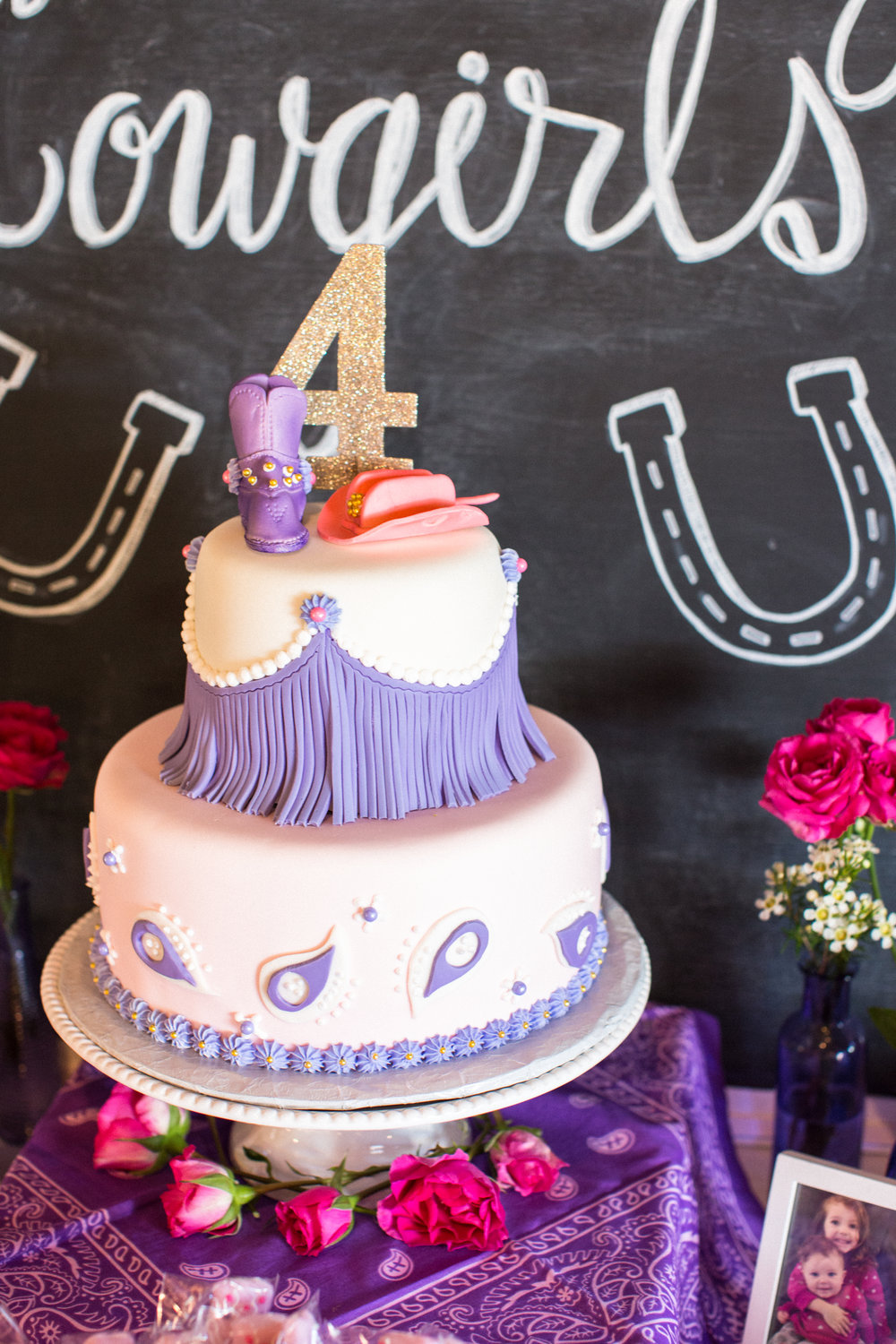 Cowgirl birthday party cake