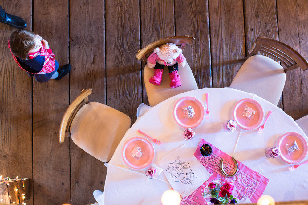 Cowgirl birthday party decor