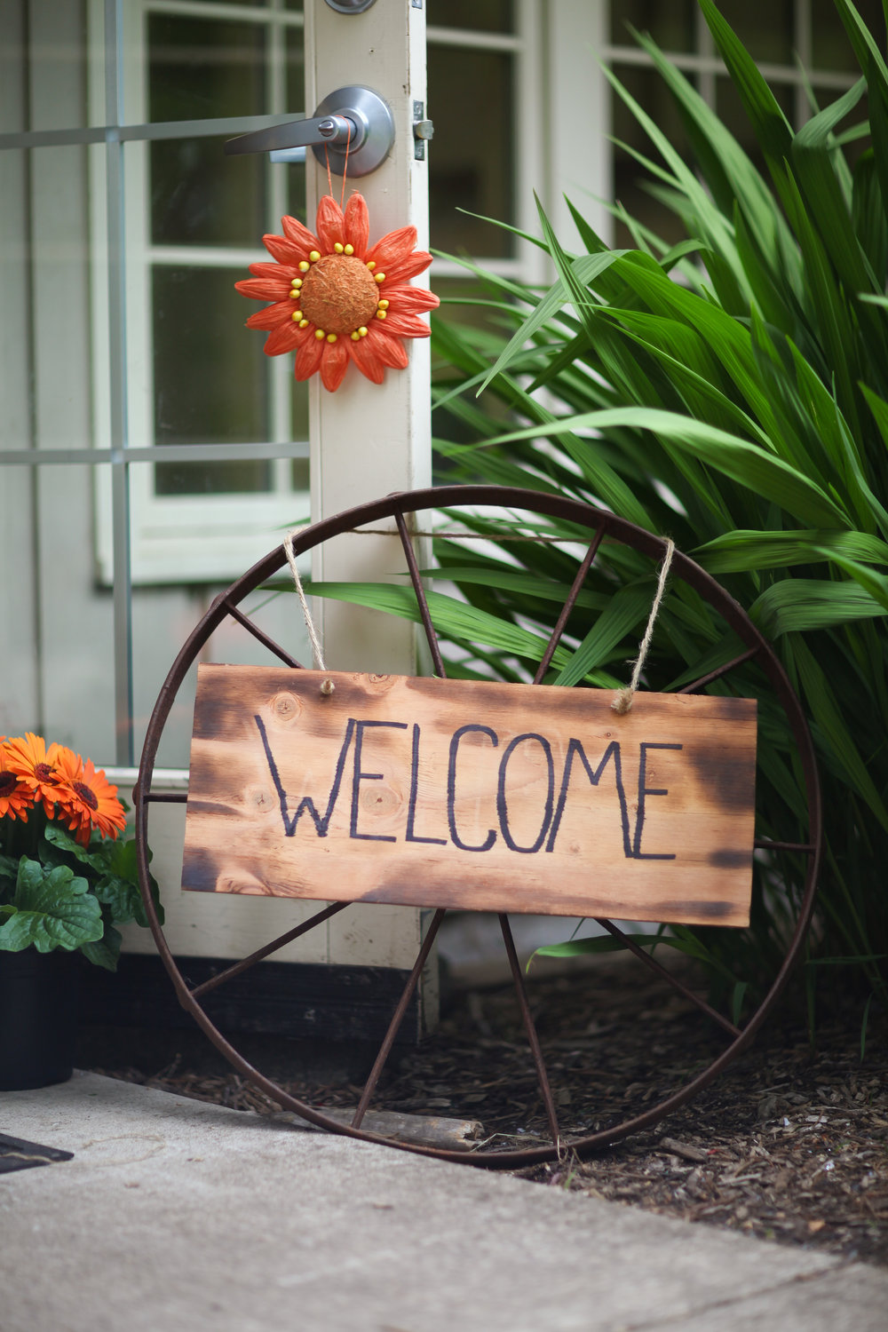 Rustic bridal shower welcome sign