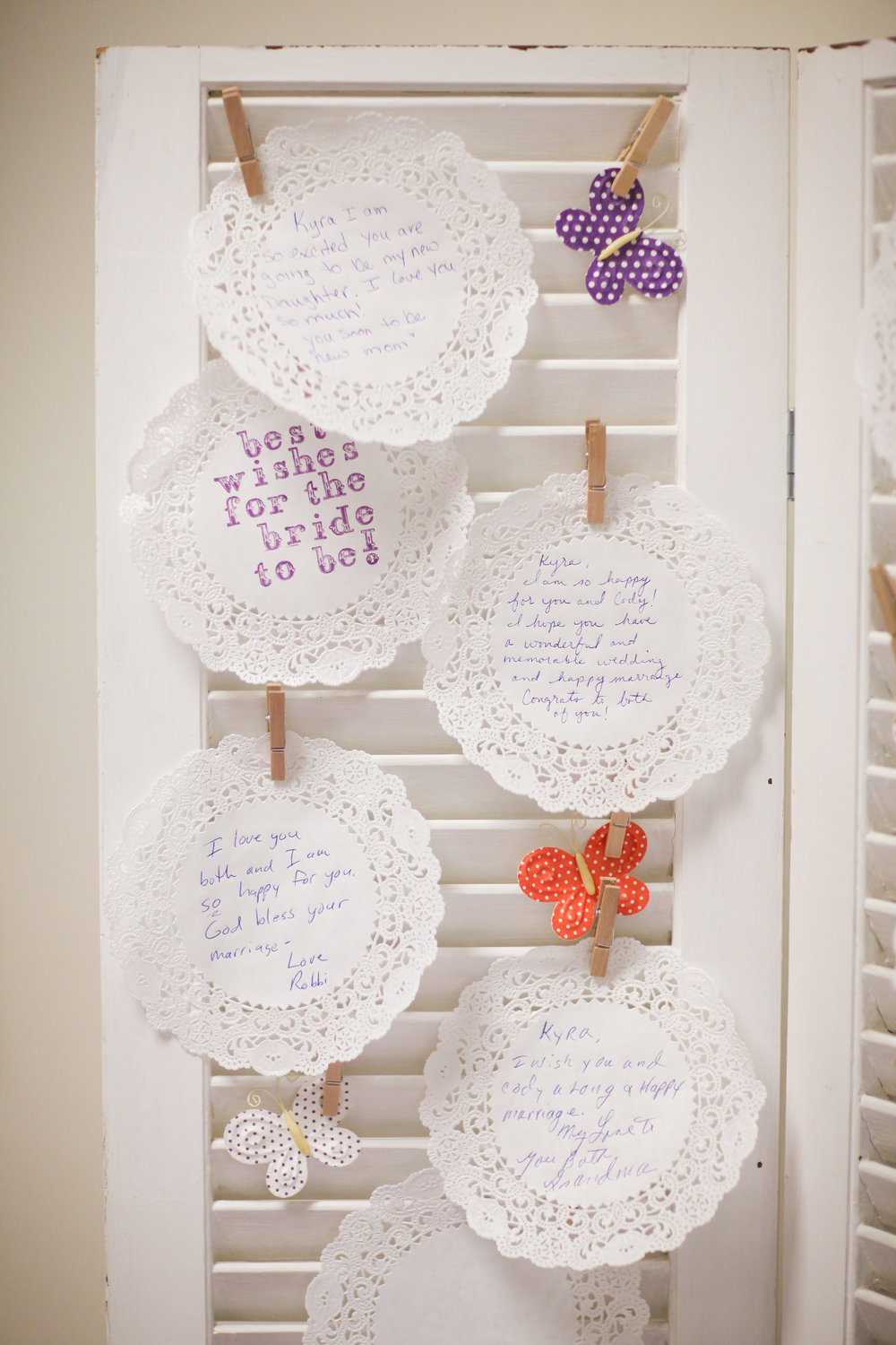 Rustic bridal shower guest book