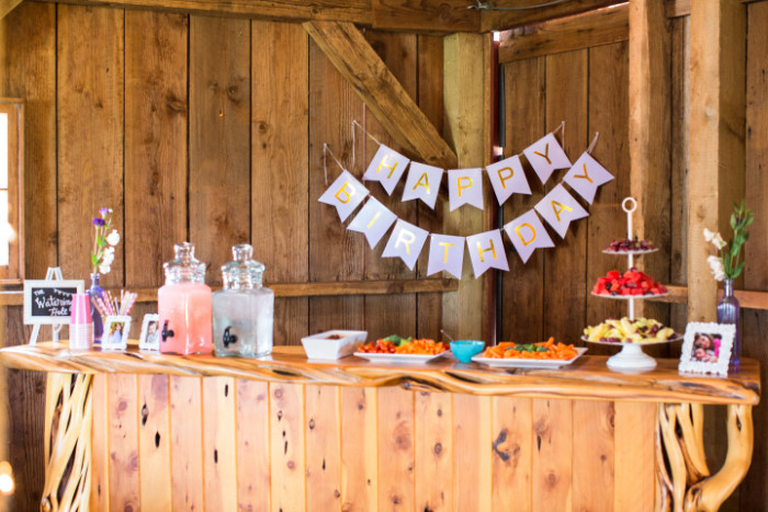 cowgirl party food table