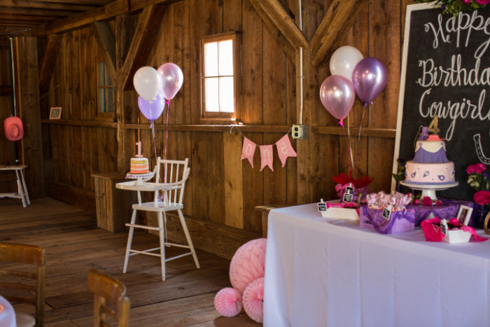 cowgirl party decor