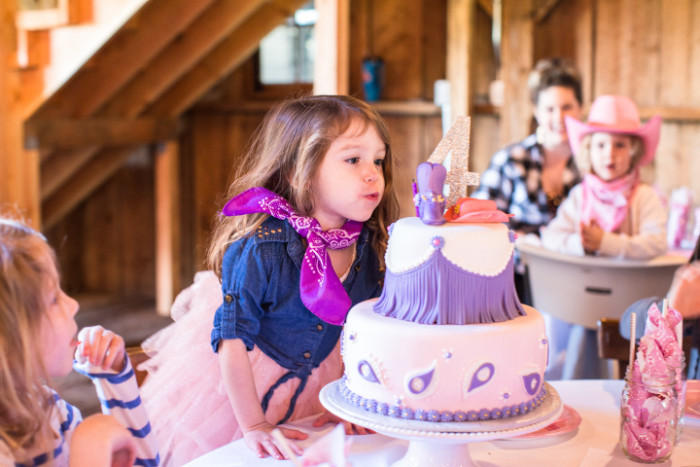 cowgirl party cake