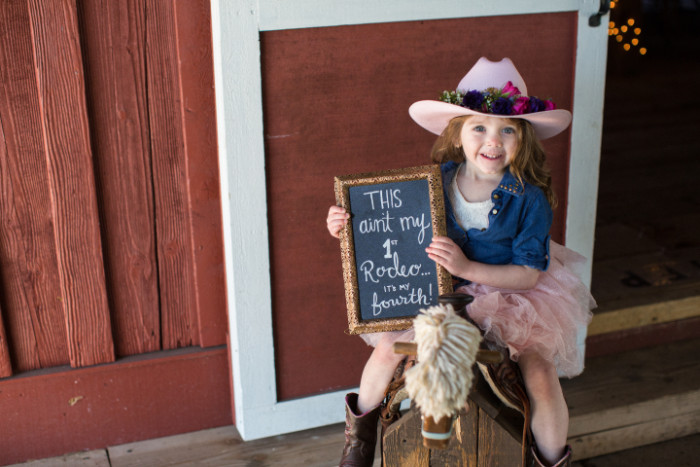 cowgirl party photo booth