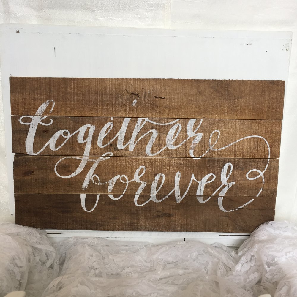Together Forever wood sign