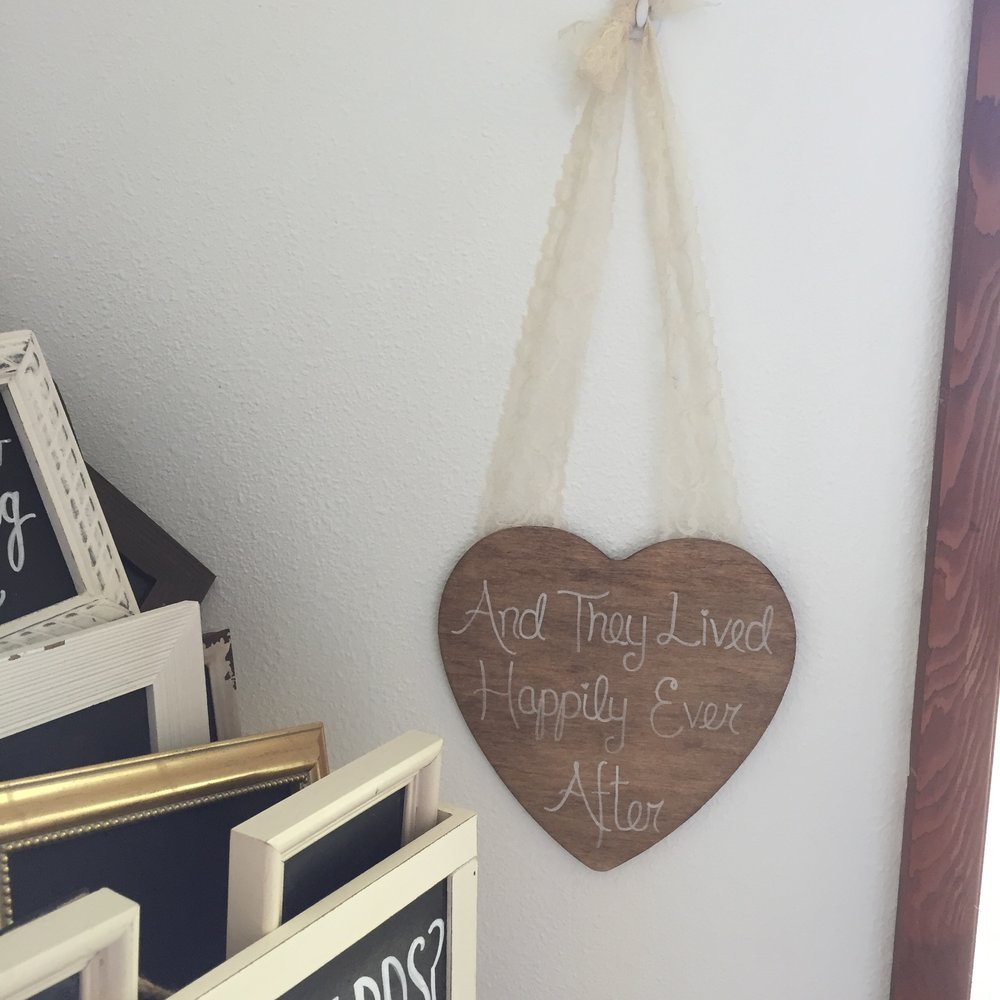 Happily Ever After Wood Heart