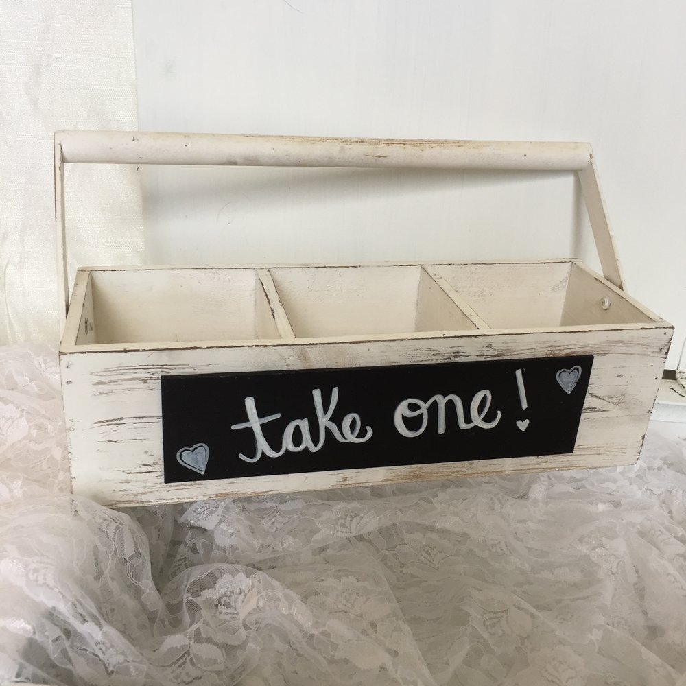 Shabby wood crate