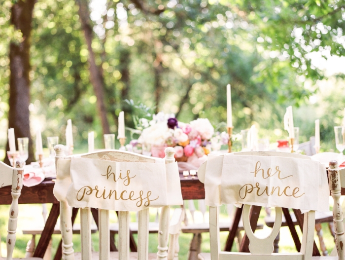Disney princess inspired wedding