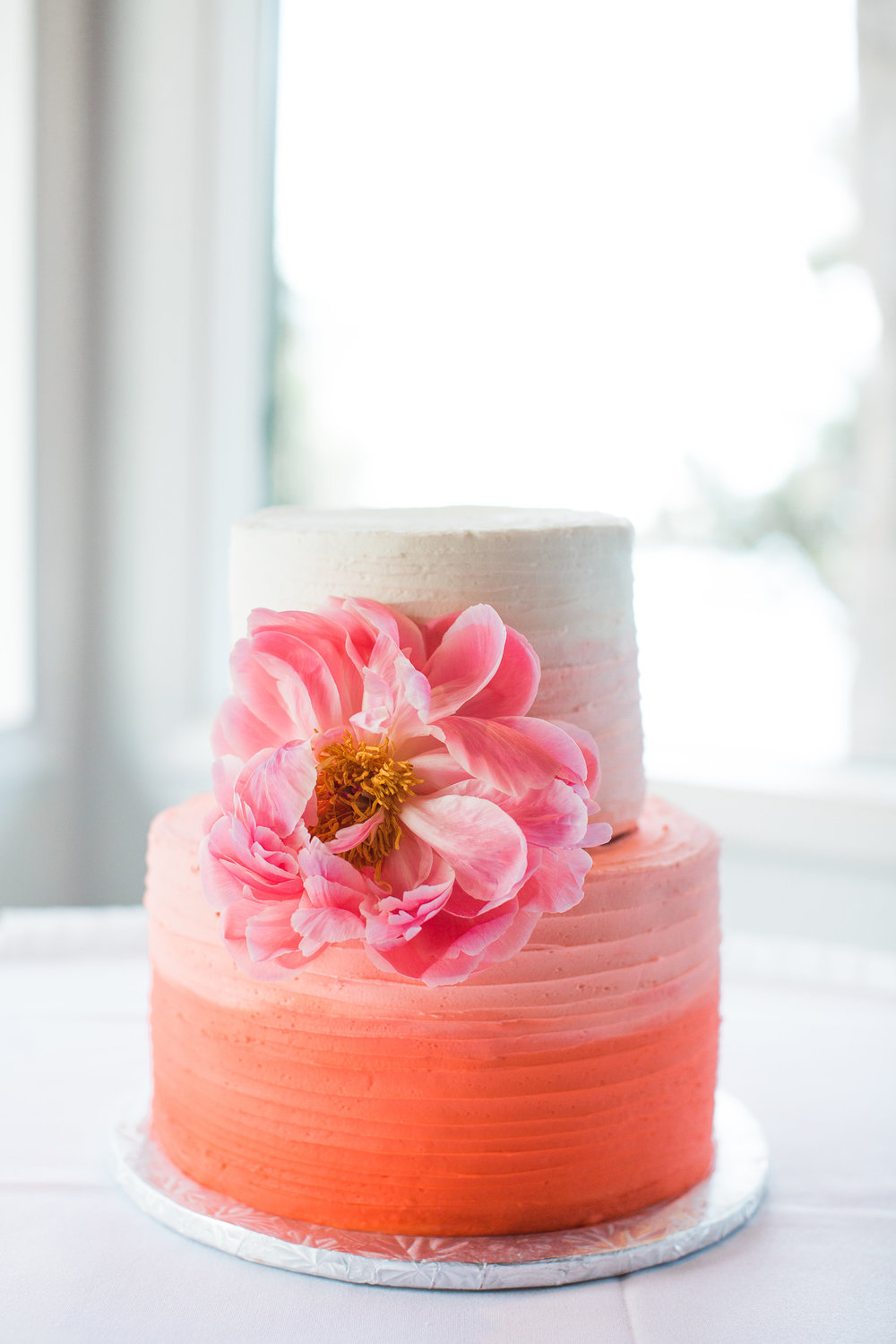 Sugar Rush Bakery  in Medford provided the lovely ombre cake for the reception along with the caramel apple guest favors.