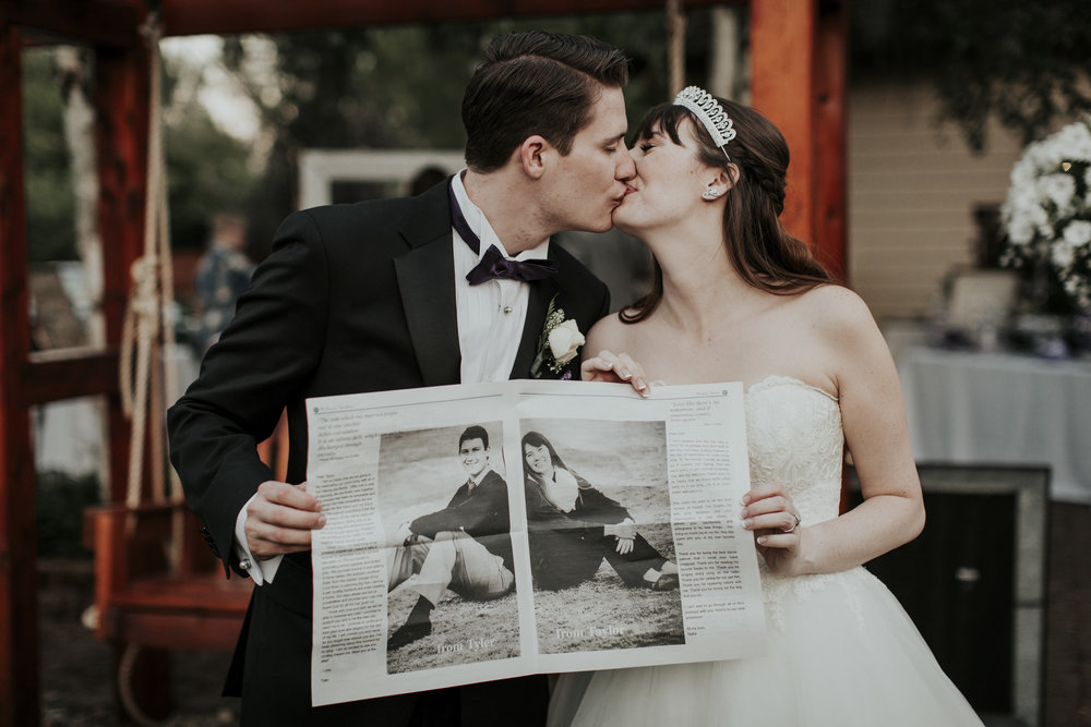 custom wedding newspaper