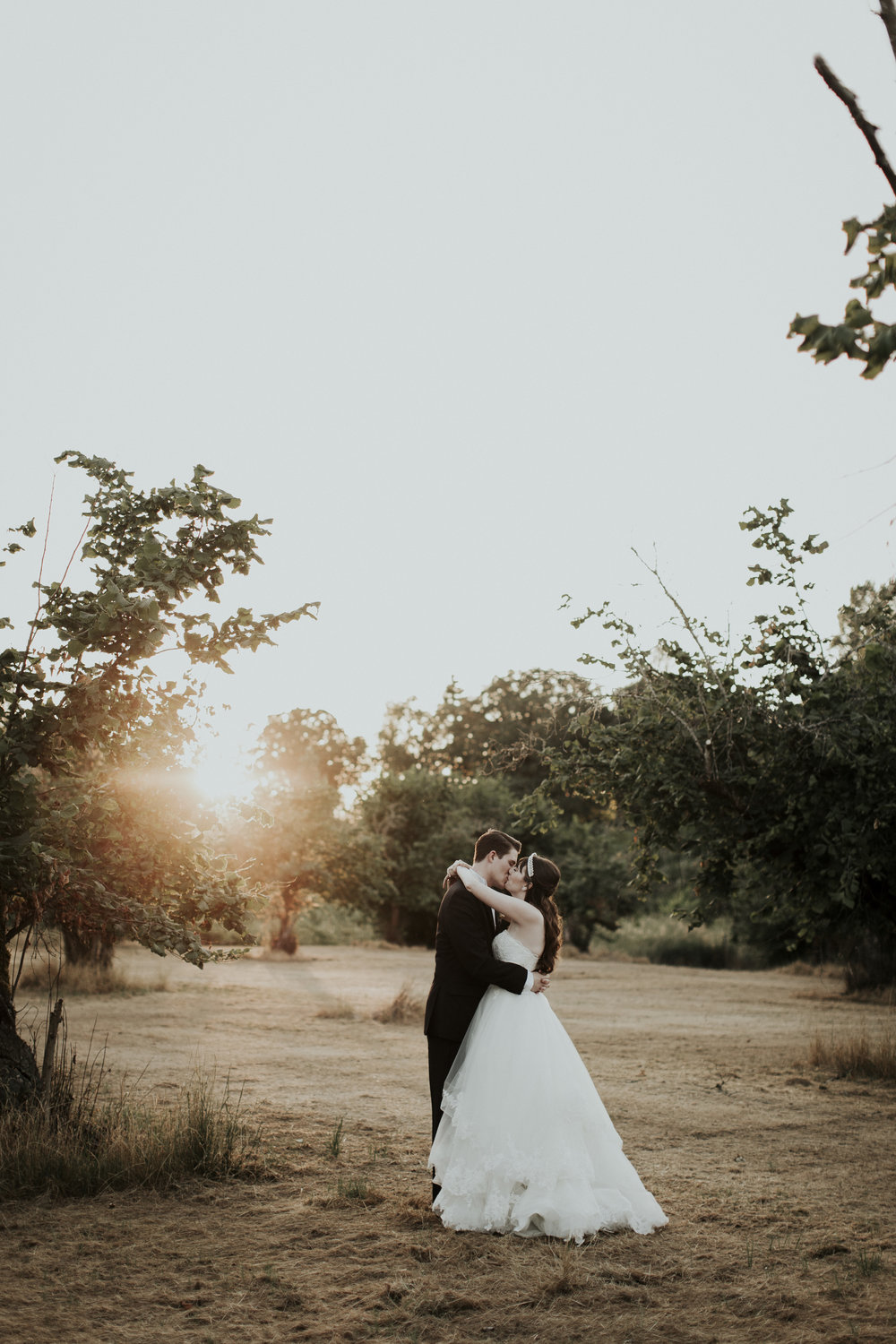 Fairytale sunset wedding
