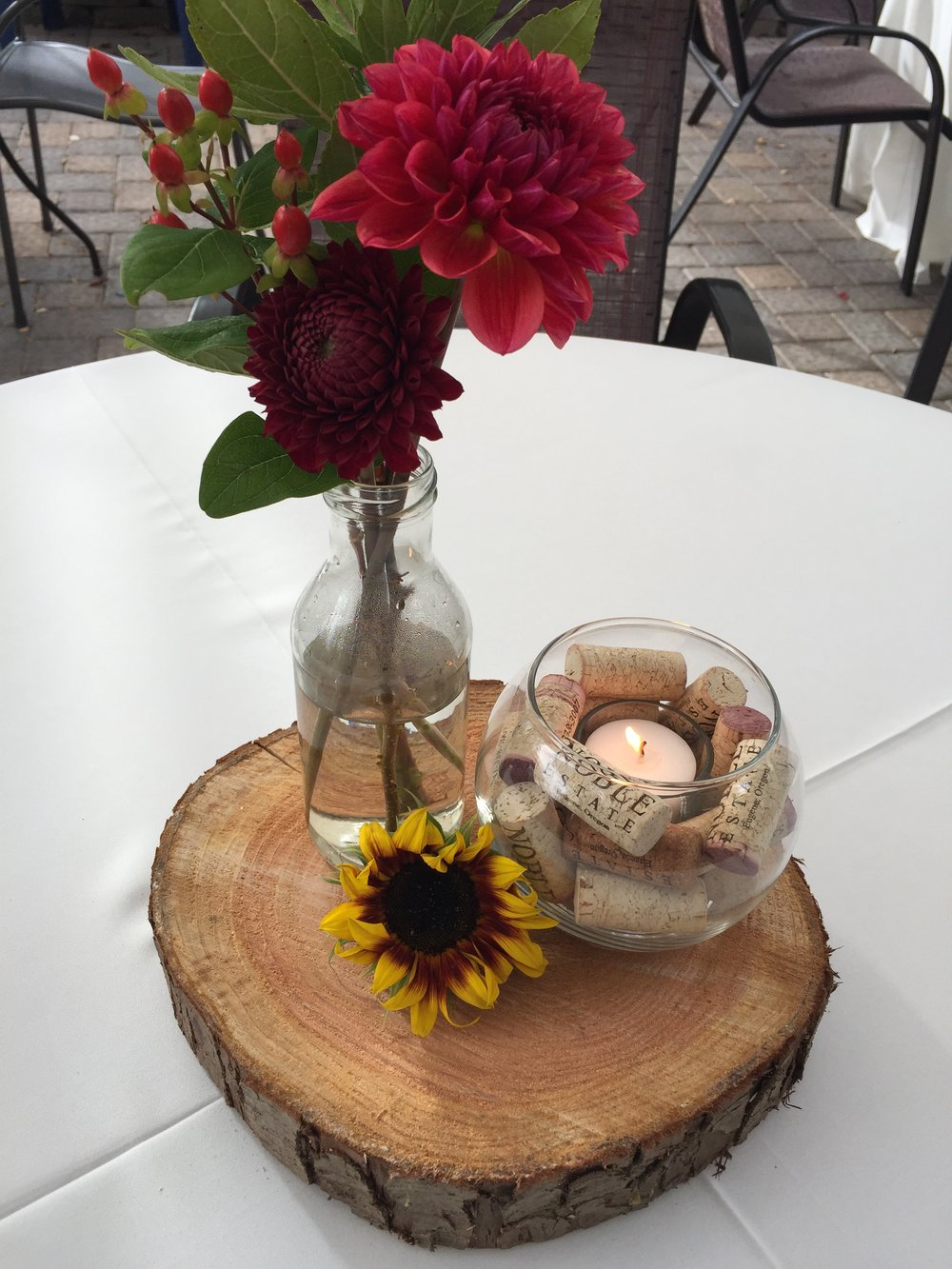In September I was given the opportunity to help plan and execute a reception for the Lane Transit District's launch of the new West Eugene EMX line. I didn't take many photos that night, but this is one of the simple/rustic centerpieces I created for their reception at  Noble Estate Urban Winery .  It was a wonderful event to be a part of and I am excited to work on more corporate events in the future!