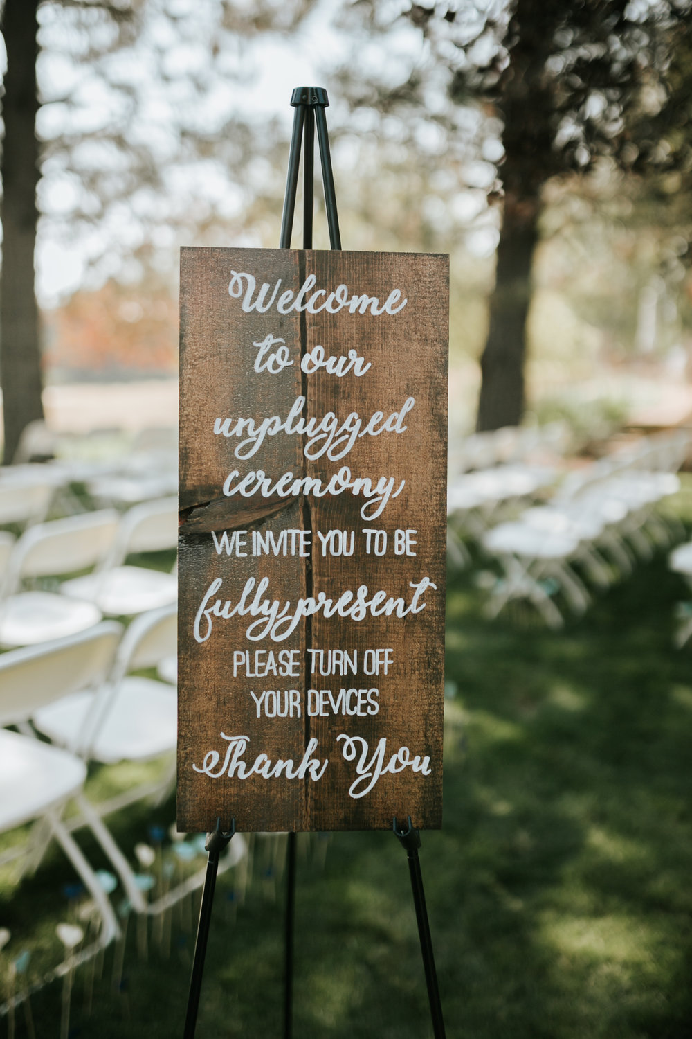 Ceremony Seating Painted Sign