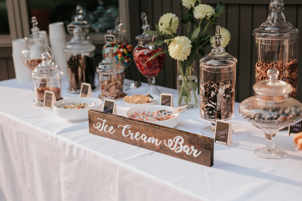 ice cream wedding bar