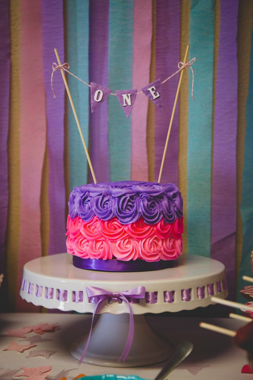 Spring Birthday Party Smash Cake
