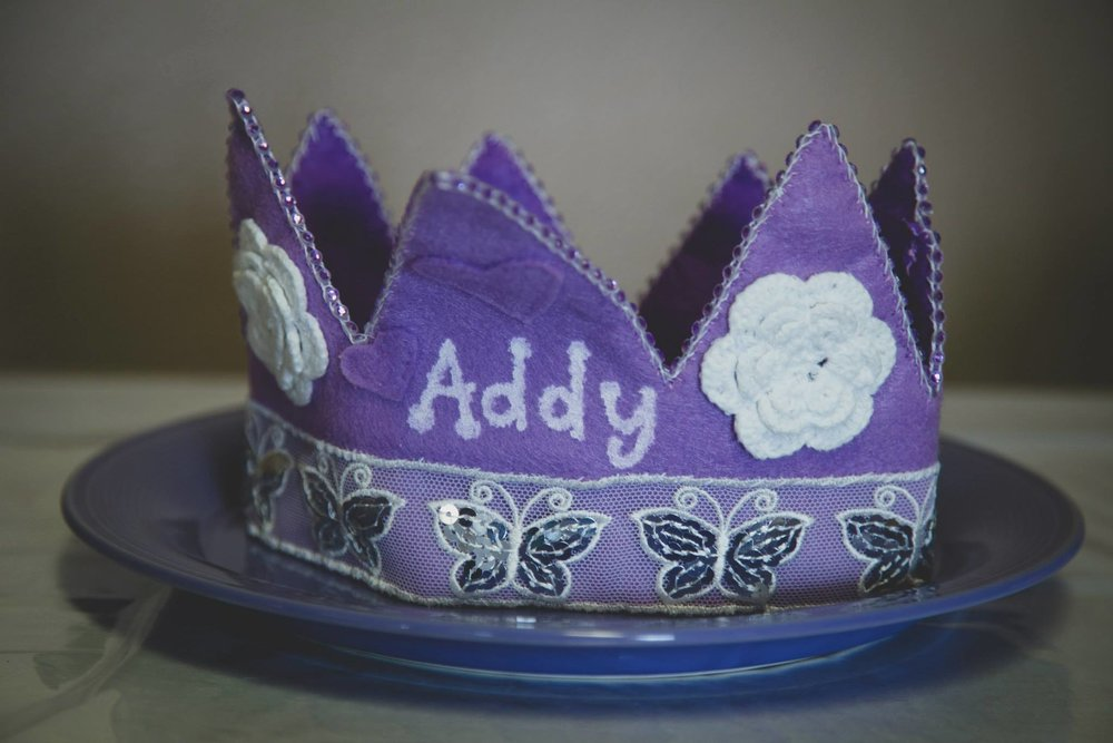 Handmade First Birthday Crown